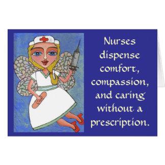 De verpleegsters delen comfort, medeleven… uit - k wenskaart