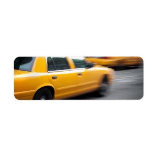 De verzendende Gele NY Cabine van de Taxi van de Etiket