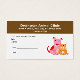 De veterinaire Kaart van de Benoeming Visitekaartjes