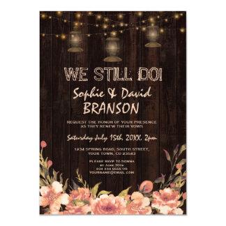 De vieilles lanternes en bois florales vintages carton d'invitation  11,43 cm x 15,87 cm