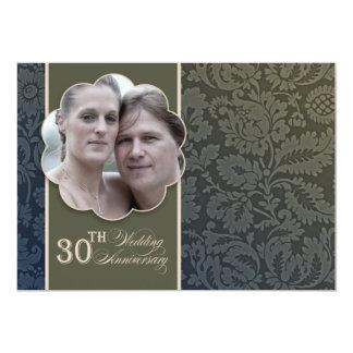 de vintage 30ste foto van de huwelijksverjaardag 12,7x17,8 uitnodiging kaart
