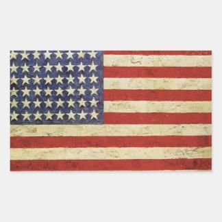 De vintage Amerikaanse Sticker van de Vlag