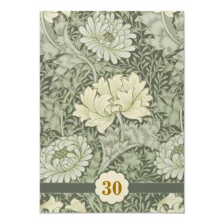 de vintage bloemen van de huwelijksverjaardag 12,7x17,8 uitnodiging kaart