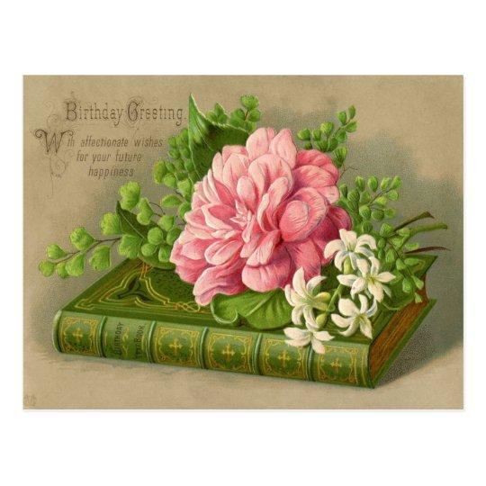 Geliefde De vintage Bloemen van de Verjaardag Briefkaart | Zazzle.be PZ-84