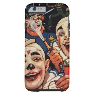 De vintage Clowns van het Circus, Gekke Grappige Tough iPhone 6 Hoesje