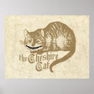 De vintage Illustratie van de Kat van Cheshire Poster