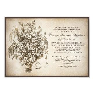 de vintage lente van de huwelijksverjaardag 12,7x17,8 uitnodiging kaart