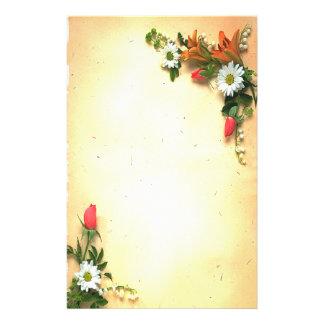 De vintage Mooie BloemenKantoorbehoeften van het Briefpapier