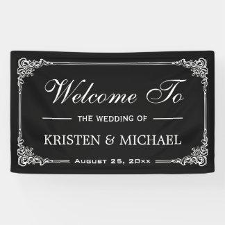 De vintage Partij van de Douche van het Huwelijk Spandoek