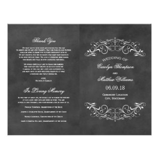 De vintage Programma's van het Huwelijk | Bord Flyer 21,6 X 27,9 Cm