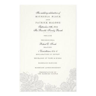 De vintage Programma's van het Huwelijk van het Flyer 14 X 21,6 Cm