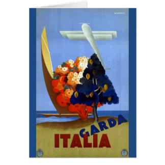 De vintage Reis van de Lucht van Garda Italië Kaart