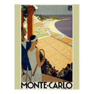 De vintage Reis van Monte Carlo Monaco Briefkaart