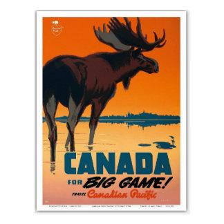 De vintage Retro Reis van Canada Briefkaart