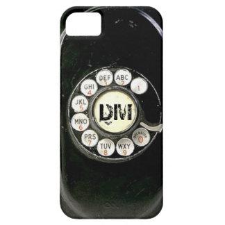 De vintage roterende telefoon van het wijzerplaatb iPhone 5 hoesjes