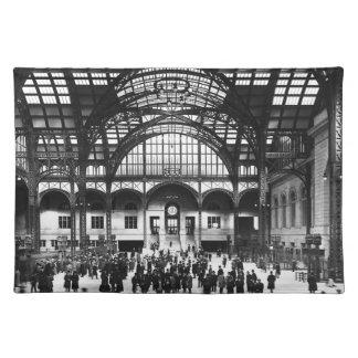 De Vintage Spoorweg van de Stad van New York van Placemats