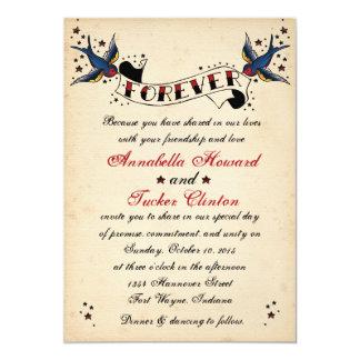 De vintage Uitnodiging van het Huwelijk van het