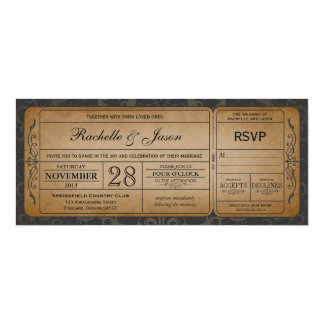 De vintage Uitnodiging van het Kaartje van het 10,2x23,5 Uitnodiging Kaart