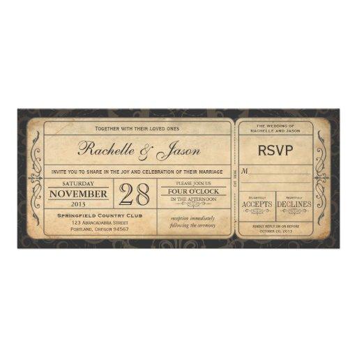 De vintage Uitnodiging van het Kaartje van het Huw