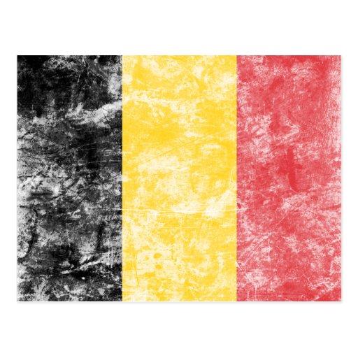 De vintage Vlag van België Wenskaarten