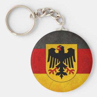 De vintage Vlag van Deutschland van de Vlag van Sleutelhanger