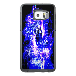 De violetkleurige Saffier Parijs droomt Degenen OtterBox Samsung Galaxy S6 Edge Plus Hoesje