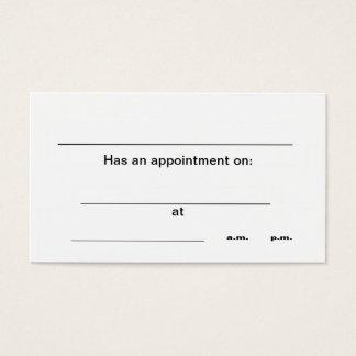 """De visitekaartjes van de """"benoeming"""""""