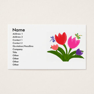 De visitekaartjes van tulpen