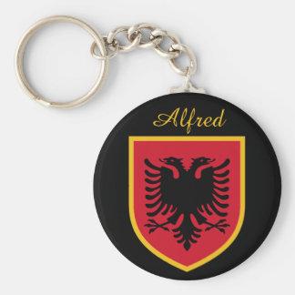 De Vlag van Albanië Sleutelhanger