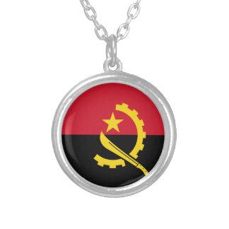 De Vlag van Angola Zilver Vergulden Ketting