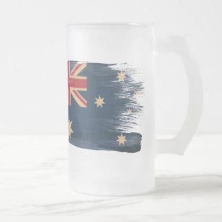 De Vlag van Australië Matglas Bierpul