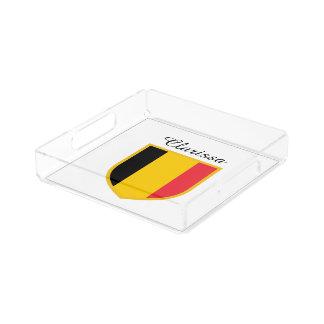 De Vlag van België Acryl Dienblad