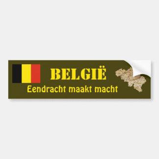 De Vlag van België + De Sticker van de Bumper van