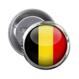 De Vlag van België om de Bal van het Glas Ronde Button 5,7 Cm