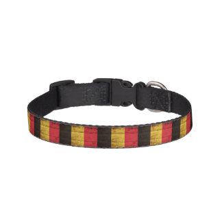 De Vlag van België op Oude Houten Korrel Huisdier Halsbandje
