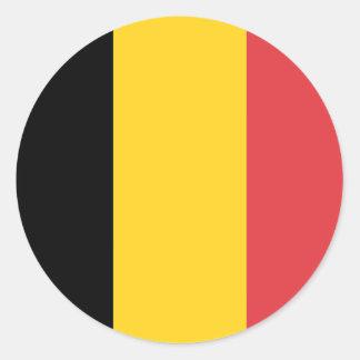 De Vlag van België Ronde Sticker