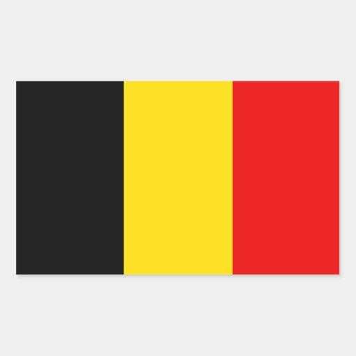 De Vlag van België Rechthoekvormige Sticker