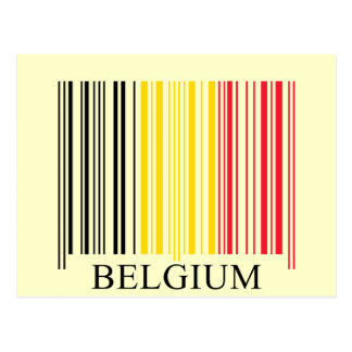 De Vlag van België van de streepjescode Wens Kaart