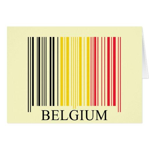 De Vlag van België van de streepjescode Kaarten