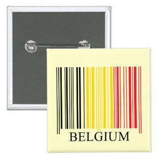 De Vlag van België van de streepjescode Vierkante Button 5,1 Cm