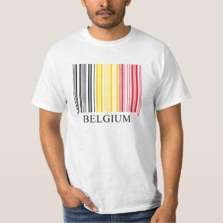 De Vlag van Belguim van de streepjescode Shirts