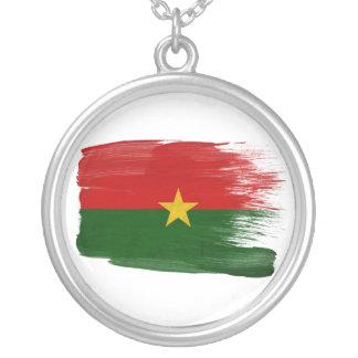 De Vlag van Burkina Faso Zilver Vergulden Ketting
