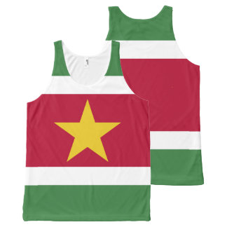 De Vlag van de Suriname All-Over-Print Tank Top