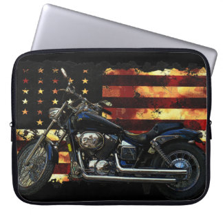 De Vlag van de Unie, Burgeroorlog, Motorfiets, Var Computer Sleeve