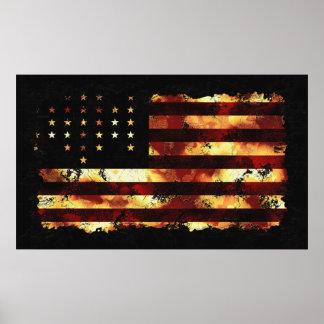 De Vlag van de Unie, Burgeroorlog, Sterren en Stre Poster