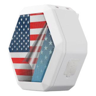 De Vlag van de V.S. Witte Bluetooth Speaker