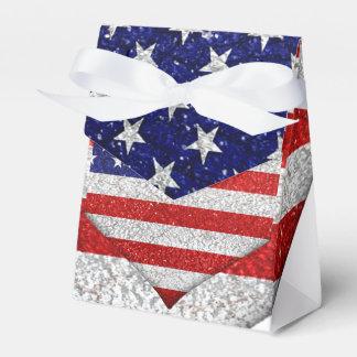De Vlag van de Vorm van het Hart van de V.S. Bedankdoosjes