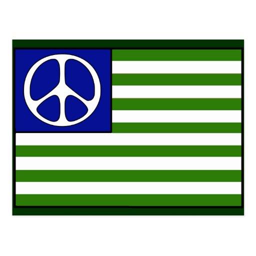 De Vlag van de vrede Wenskaart