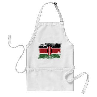 De Vlag van Kenia van Grunge Standaard Schort