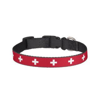De Vlag van Zwitserland Huisdier Halsbandje